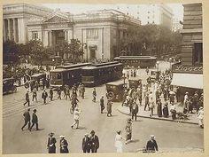 Washington DC Streetcars at 15th and G Streets NW (1910).