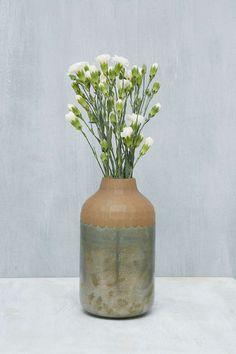 Vase in zweifarbigem Design in Blau