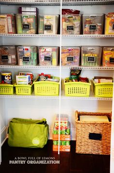 WEEK #3 – THE PANTRY  1.  Make sure you have boxes, bins, etc… before you get started. You will need them.
