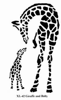 giraffe stencils - Google Search
