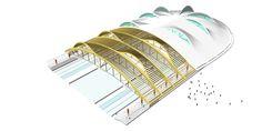 Gallery of Inzell Speed Skating Stadium / Behnisch Architekten + Pohl Architekten - 14 Hotel Canopy, Diy Canopy, Fabric Canopy, Canopy Tent, Window Canopy, Canopy Bedroom, Canopy Lights, Tents, Arquitetura