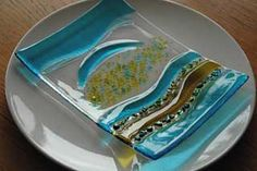 Slumped Glass -- check out her site, she does very nice and interesting things!