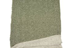 Heather Olive Green and Off White French Terry Knit Fabric 14