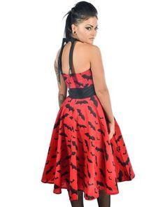 Bat 50s Dress Red and Black