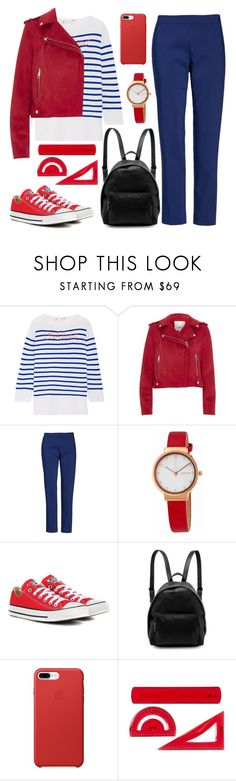 """""""Straight Out of Summer"""" by pure-vnom ❤ liked on Polyvore featuring Lingua Franca, River Island, Chaus, Skagen, Converse, STELLA McCARTNEY and BackToSchool"""