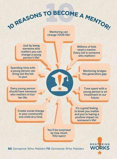 10 Reasons to Become a Mentor! #MentoringWorks #NationalMentoringMonth