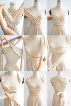 Beautiful way to wrap and wear an infinity dress!