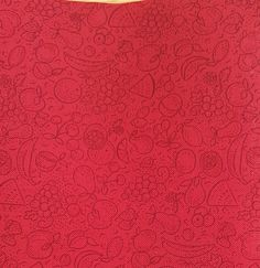 """Fat Quarter~""""Fruit"""" Novelty fabric. Red quilting cotton fabric ~2 Available by AmourFabriQues on Etsy"""