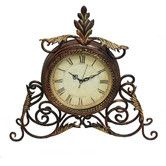 Found it at Wayfair - Athena Metal Scroll Table Desk Clock