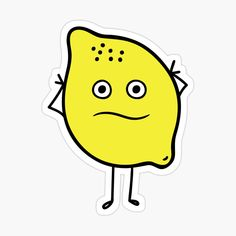 'Cute Lemon Character Sticker' Sticker by CarmelaGiordano Sell Your Art, Sticker Design, My Arts, It Is Finished, Stickers, Art Prints, Printed, Awesome, Shop