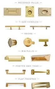brass pulls and knobs