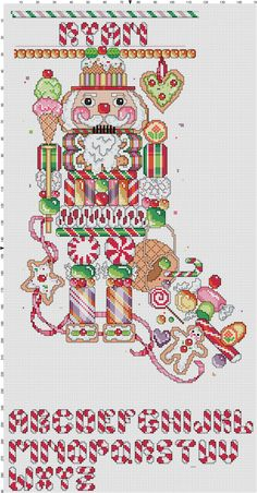 Nutcracker Christmas Stocking by Berwickbay on Etsy Cross Stitch Christmas Stockings, Cross Stitch Stocking, Christmas Stocking Pattern, Christmas Cross, Cross Stitch Charts, Cross Stitch Designs, Cross Stitch Patterns, Nutcracker Christmas, Xmas Stockings
