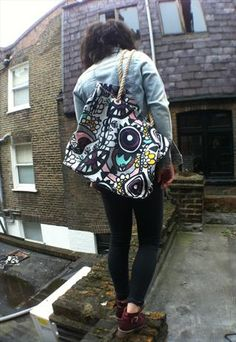 Large colourful bag japanese streetwear