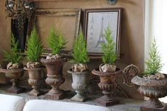 Love vintage urns!  Tamera Beardsley: January decor