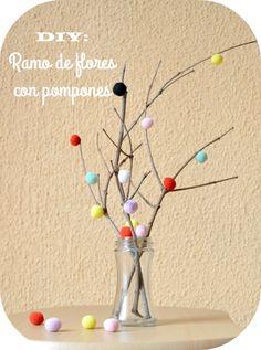 Niña Bonita: DIY: Ramo de flores con pompones