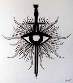 Dragon Age - Inquisition Symbol Fan Art Painting by LethalChris