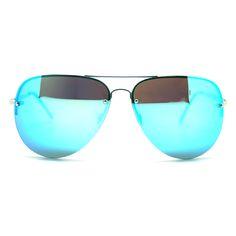 Quay Australia X Amanda Steele Muse Sunglasses in Silver/Blue