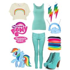"""My Little Pony: Friendship is Magic (Rainbow Dash)"" by disneyheart on Polyvore"