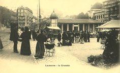Lausanne - La Grenette Lausanne, Amsterdam, Old Pictures, Vintage Posters, Switzerland, Montreux, The Past, Photos, City
