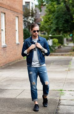 Hello September - denim jacket and jeans #mensstyle #denimstyle