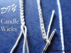 How To Make DIY Candle Wicks With Cotton String - Sew Historically - - Did you know that you can make DIY candle wicks with things you already have at home? All you need is cotton string, vegetable oil and salt. Diy Candle Wick, Candle Craft, Candle Wicks, Candle Wax, Candle Holders, Diy Candle Ideas, Beeswax Candles, Borax, Candle Maker
