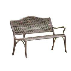 Alfresco Home 55-8638-SB Ramblas Garden Bench, Spanish Bronze