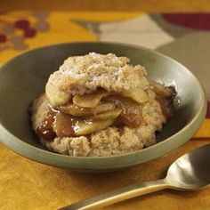 Apple-Cinnamon Shortcakes Recipe - This puts an Autumn spin on a summertime favorite!  Double Yum!