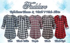 Faddare Women's Casual 3 4 Sleeve Notch V Neck Long Sleeve Blouse Shirt Tops at Amazon Women's Clothing store Cheap Vintage Clothing, Vintage Outfits, Dress Shirts For Women, Women's Casual, Shirt Blouses, Fashion Brands, Long Sleeve Shirts, Shirt Dress, Amazon