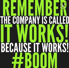 #BOOM It Works!!! Check out my website for new products and promotions for this month.