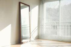 Kobeomsuk Furniture Seoul, South Korea Walnut full lenght mirror * * ⓒ kobe. Big Mirror In Bedroom, Kobe, South Korea, Seoul, Furniture, Home Decor, Decoration Home, Room Decor, Home Furniture