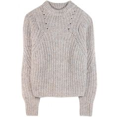 ISABEL MARANT Newt Pullover ($325) ❤ liked on Polyvore featuring tops, sweaters, jumper, shirts, isabel marant sweaters, loose sweater, sweater pullover, loose shirts and gray oversized sweater