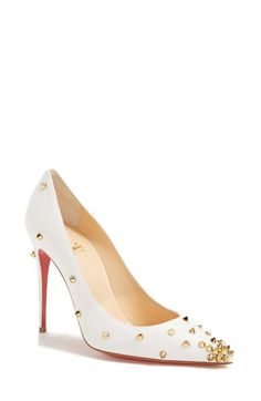 43f654f033ea Free shipping and returns on Christian Louboutin  Spike  Pointy Toe Pump at  Nordstrom.
