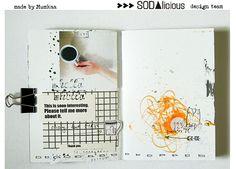 SODAlicious: czwARTek z... Art Journal Challenge, Art Journal Pages, Art Journals, Baroque Art, Mini Books, Journal Inspiration, Mixed Media Art, My Works, Mini Albums