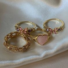 Cute Rings, Pretty Rings, Cute Jewelry, Jewelry Accessories, Vintage Jewelry, Wire Jewelry Designs, Pink Jewelry, Hippie Jewelry, Trendy Jewelry