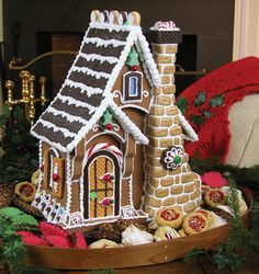 shopping store gingerbread house | Shop by Brand }} Byers' Choice Carolers }} Byers Choice - Gingerbread ...