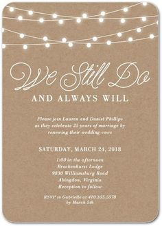 Rustic Backyard - Signature White Vow Renewal Invitations - Magnolia Press - Wood - Brown : Front