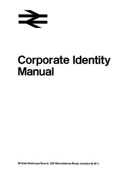 British Rail. Corporate Identity Manual. Design Research Unit