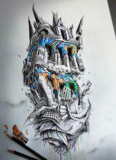 Après son excellente série Distroy (Distroy part I / Distroy part II), voici les dernières créations du talentueux illustrateur français Pierre-Yves Rivea