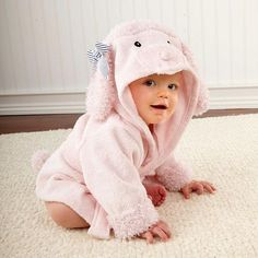 7bd1447fd4 Animal Hooded Toddler Bathrobe. Hooded Bath TowelsBaby ...