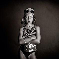 "She knows what she's about. Kate Parker told her 7 year old daughter to show her bravest face the night before her triathlon, even if it wasn't how she felt at that moment. ""I wanted her to remember that she was scared and went through with it,"" says Kate, who took the photo. We had to feature this strong girl on our @outdoorwomen 's channel. (IG: @katetparkerphotography) https://instagram.com/p/1BxIUKHga2"