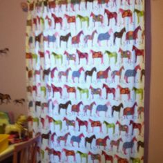 We have this bedding and had thought about making them into curtains.  Bet Cynthi can jazz em up a touch.