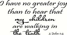 3 John 1:4 Wall Art, I Have No Greater Joy Than to Hear That My Children Are Walking in the Truth, Creation Vinyls Creation Vinyls http://www.amazon.com/dp/B00P60EH0I/ref=cm_sw_r_pi_dp_F8-Kub10S7HW3