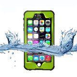 iPhone 6 Plus Waterproof Case, Adela shop Newest Version IP68 Certified Waterproof Lever,Shockproof Snowproof Dirtproof Durable Sealed Full-body Protective Cover for Apple iPhone 6 Plus 5.5'' (green)