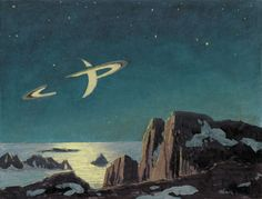 Extraterrestrial scene by Chesley Bonestell