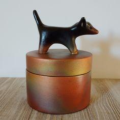 Unique handmade Raku Dog Urn #small pet Urns #Dog Memorials #Etsy Small Black Dog, Dog Urns, Keepsake Urns, Dog Memorial, Dachshund Dog, Hand Painted Ceramics, Sell On Etsy, Sculpting, Contemporary