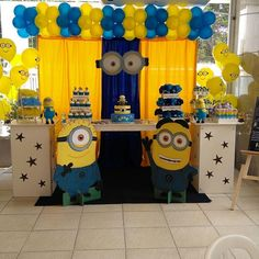 Minions Birthday Theme, Minion Party Theme, Boys First Birthday Party Ideas, 3rd Birthday Parties, Minion Party Decorations, Birthday Decorations, Minions Minions, Evil Minions, Minions Quotes