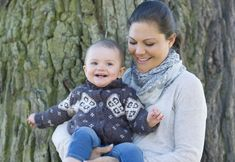 HRH Crown Princess Victoria with daughter Princess Estelle