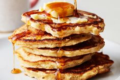 They could barely wait to get their hands on this recipe. Mashed Potato Pancakes, Pancakes And Waffles, Oats With Milk, Oatmeal Pancakes Easy, Cottage Cheese Pancakes, Pancake Toppings, Almond Flour, Cooking Time, Yummy Food