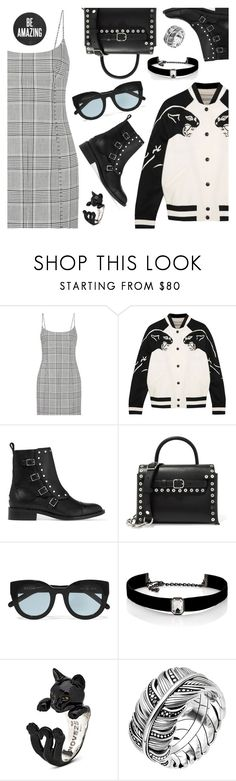 """Outfit of the Day"" by dressedbyrose ❤ liked on Polyvore featuring Alexander Wang, Valentino, Jimmy Choo, Ganni, Kenneth Jay Lane, Thomas Sabo, ootd and polyvoreeditorial"