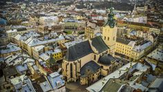 Lviv, Ukraine - View of the #Lviv  #Ukraine #architecture #old #city #travel #львов #украина